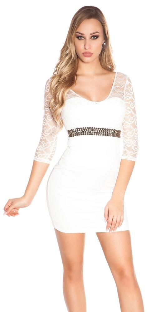 Elegantné dámske šaty Koucla in-sat1812wh