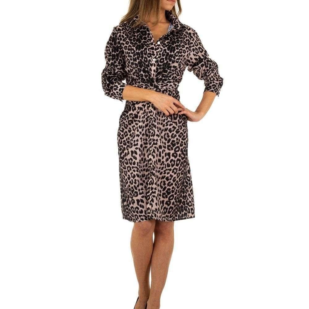 Dámske šaty s leopardím motívom - M/38 EU shd-sat1085le
