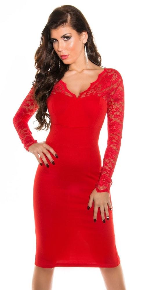 Elegantné šaty s čipkou - 36 Koucla in-sat1074re