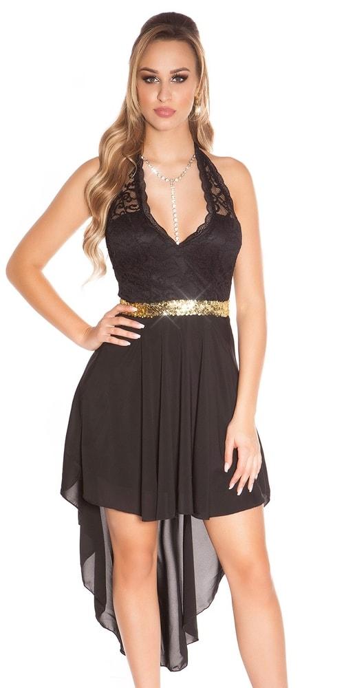 Šaty na ples - čierne - S/M Koucla in-sat1002bl