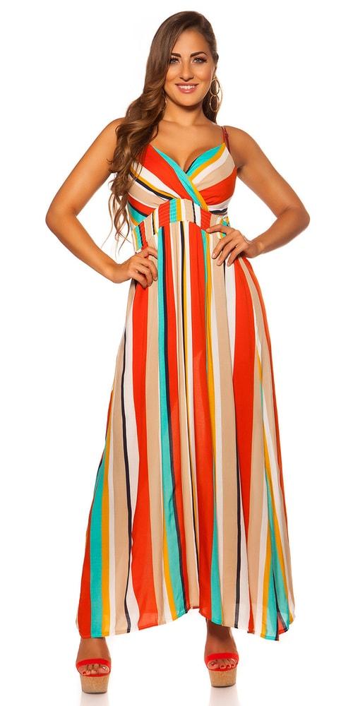 Letní pruhované šaty - M/L Koucla in-sat2061or