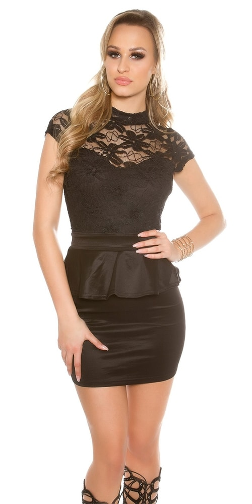 Večerné dámske mini šaty - M Koucla in-sat1537bl