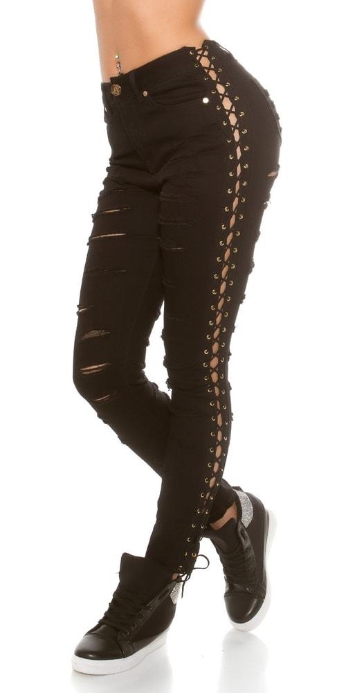 Dámske trendy džínsy - 38 Koucla in-ri1273bl