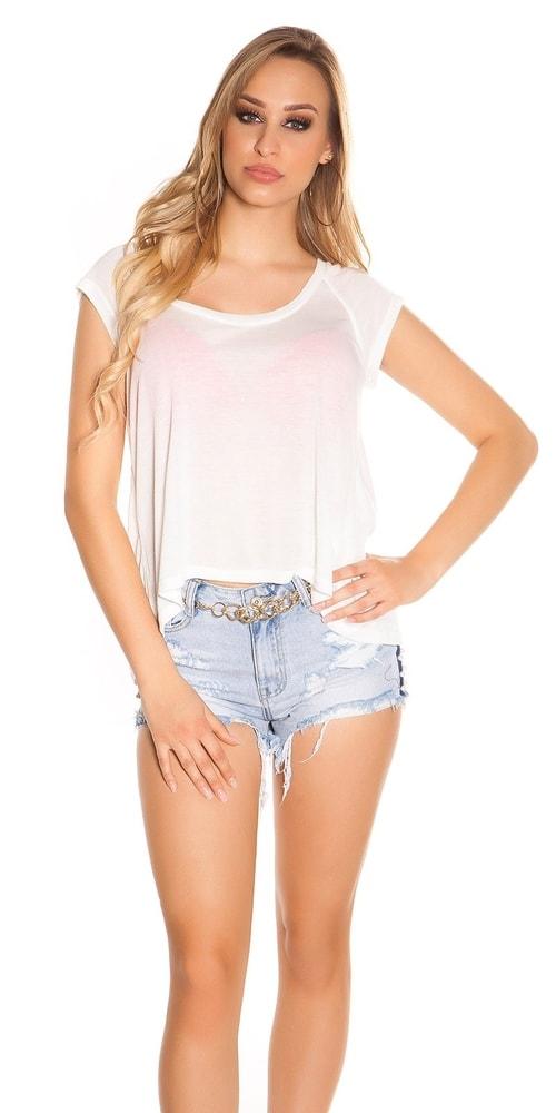 Biele dámske tričko Koucla in-tr1197wh