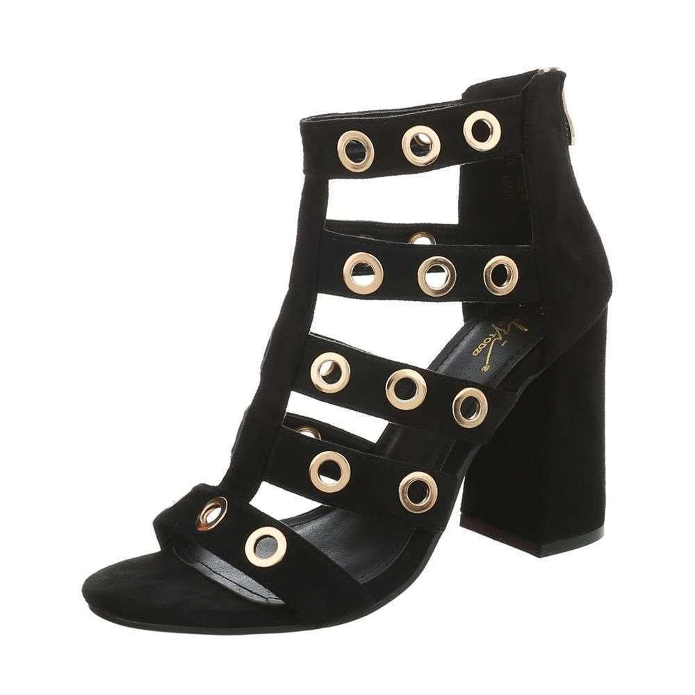 Černé sandálky - 40 EU shd-osa1102bl