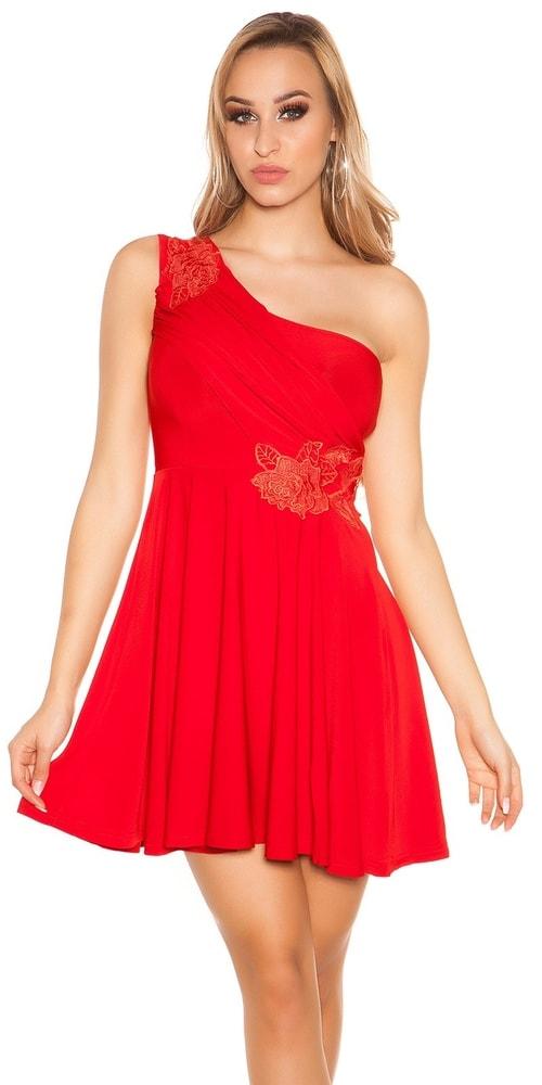 Krátke červené plesové šaty Koucla in-sat1204re