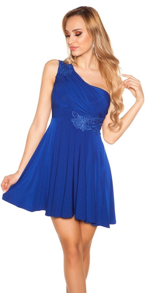 Krátke modré plesové šaty Koucla in-sat1204mo