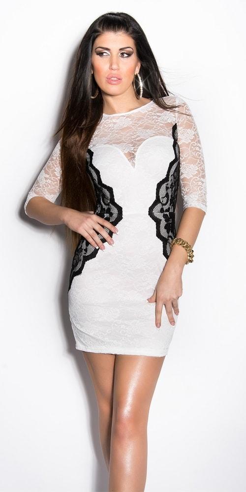 Dámske šaty s čipkou - M Koucla in-sat1536wh