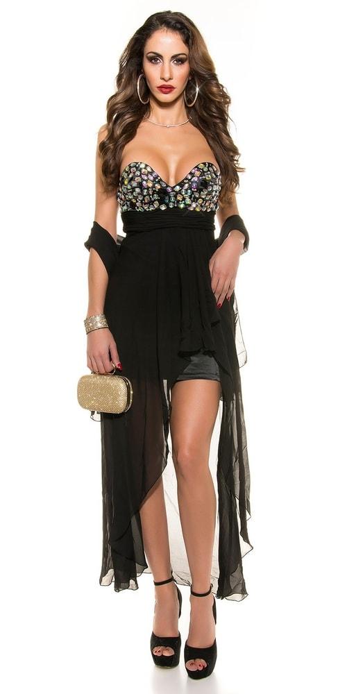 Čierne spoločenské šaty Koucla in-sat1049bl