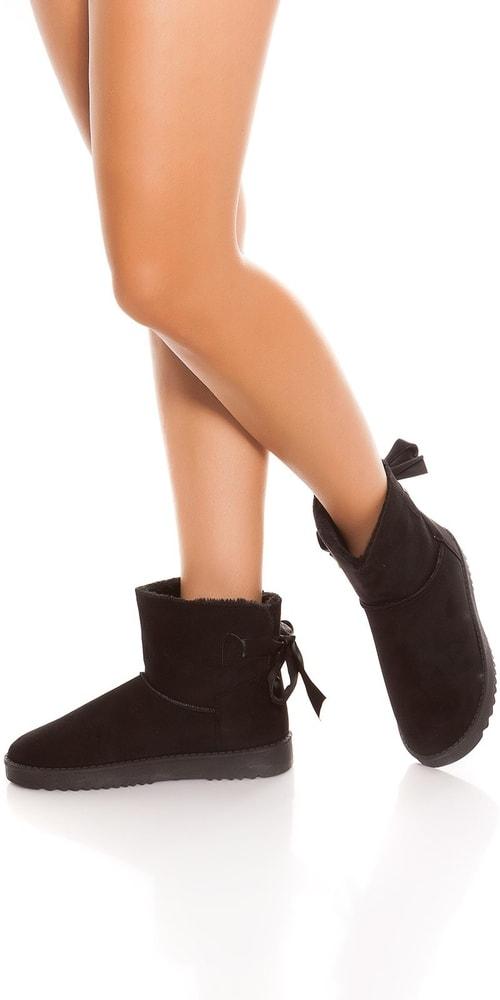 Dámske členkové zimné topánky - 40 Koucla in-ob1033bl