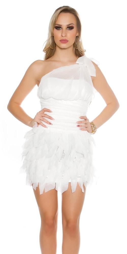 Večerné biele dámske šaty - 38 Koucla in-sat1429wh