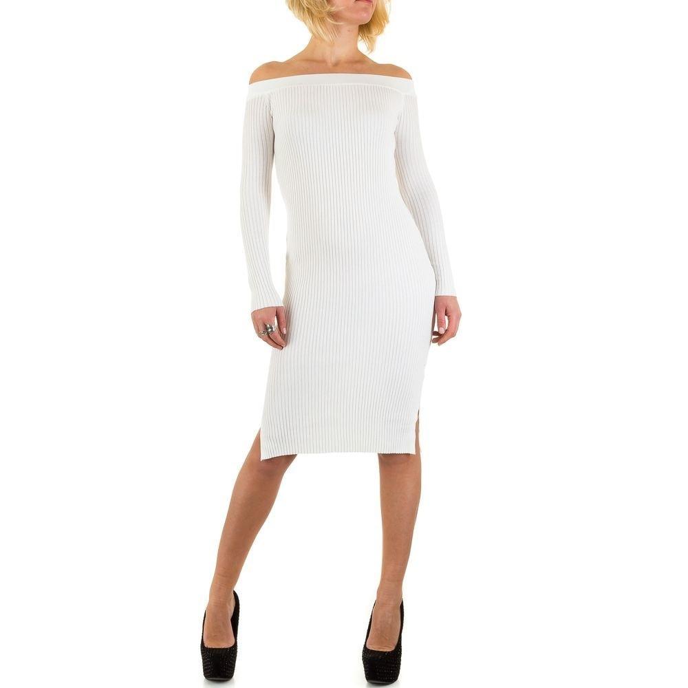 Úpletové dámské šaty EU shd-sat1057wh