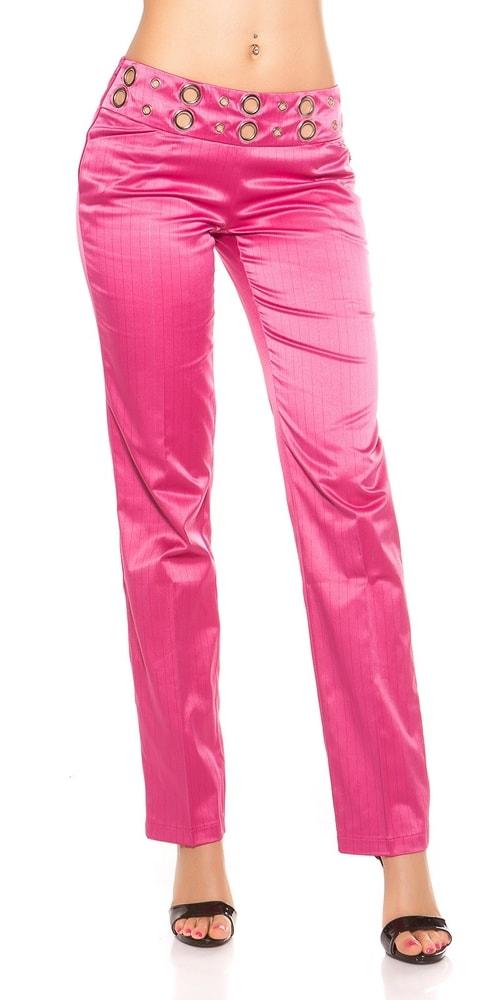 Dámské kalhoty růžové - 38 Koucla in-ka1236pi