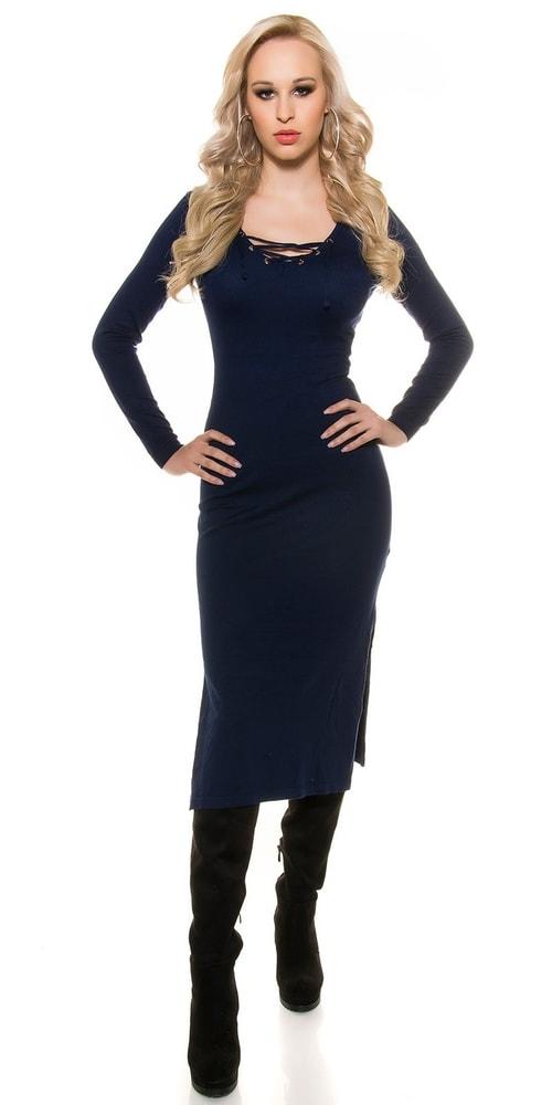 Úpletové šaty s kapucňou Koucla in-sat1216mo