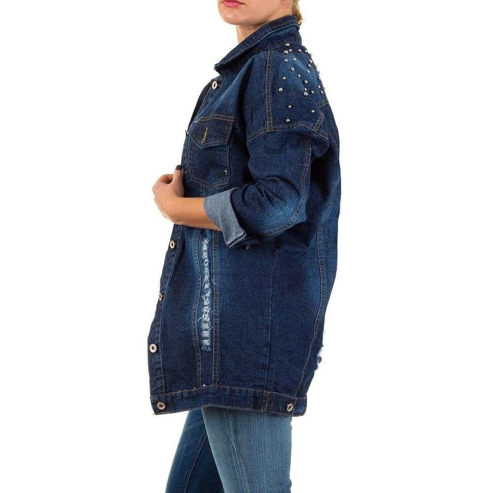 Dlouhá džínová bunda EU shd-bu1016mo