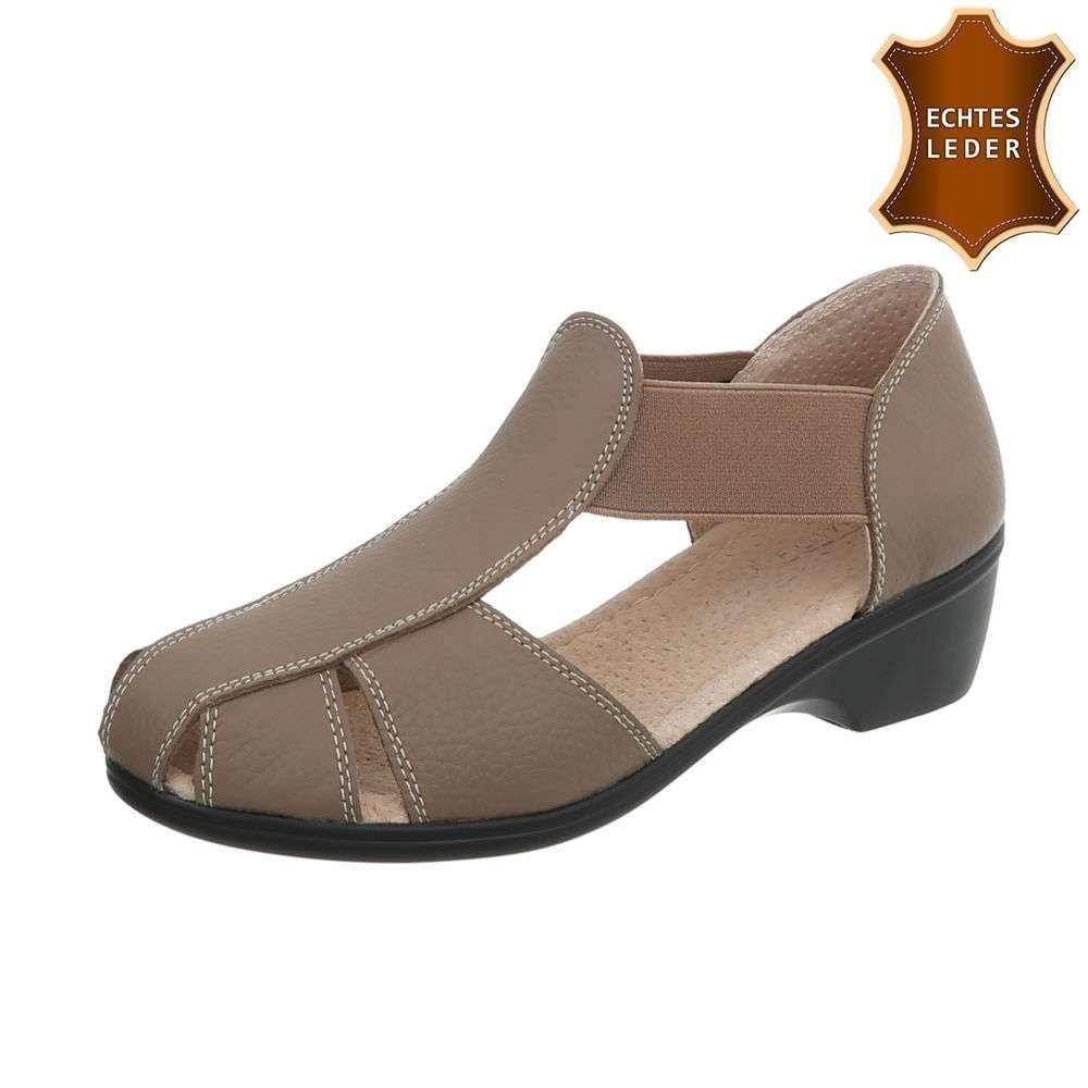 Kožené sandále khaki - 39 EU shd-osa1224kh