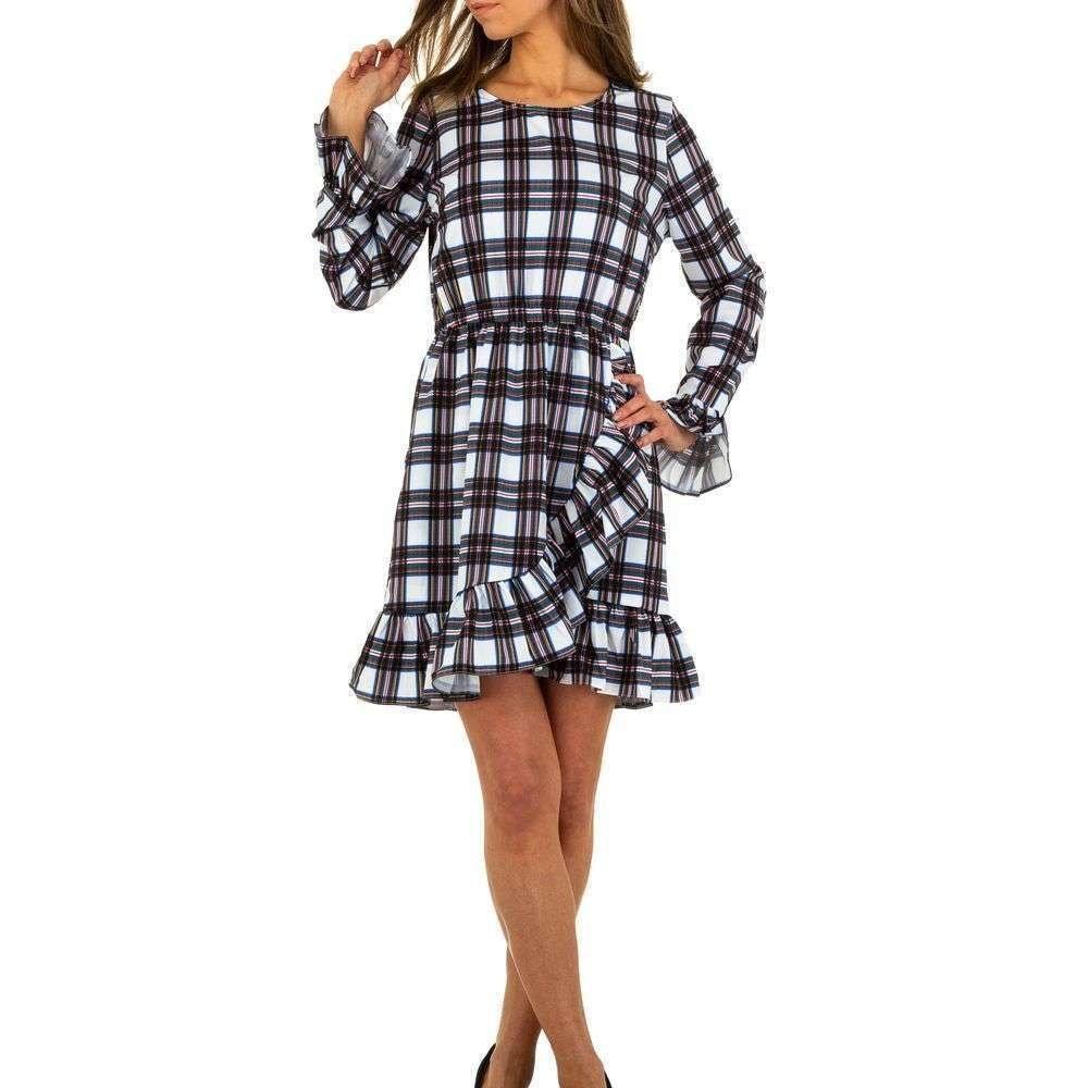 Kárované šaty - L/40 EU shd-sat1089wh