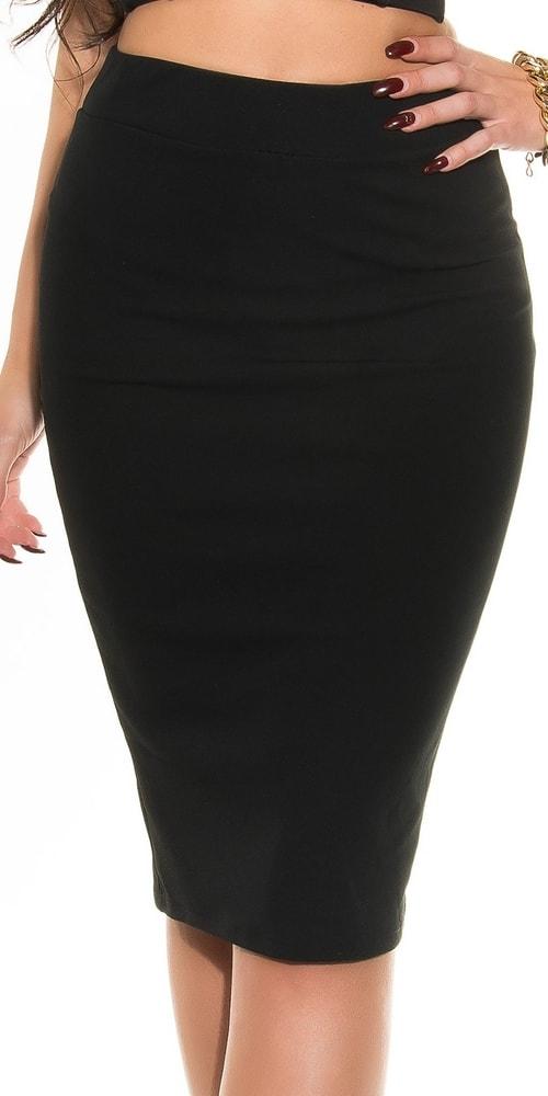 Čierna dámska sukňa - M Koucla in-su1158bl