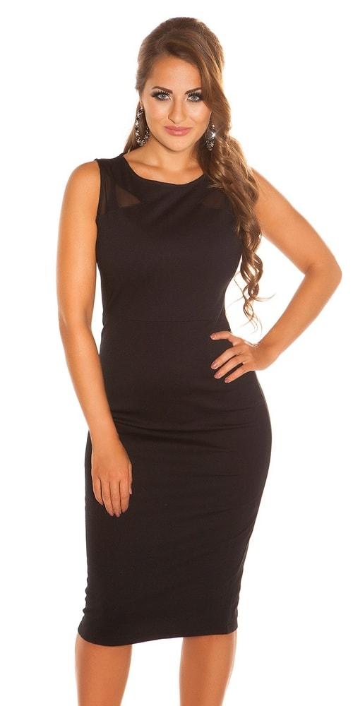 Dámske čierne šaty Koucla in-sat1012bl