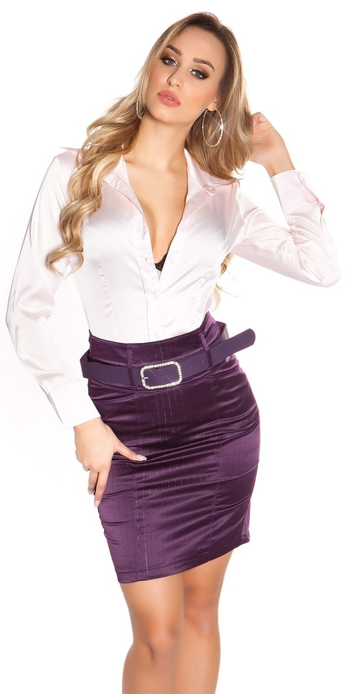 Dámska sukňa s opaskom - 40 Koucla in-su1095li