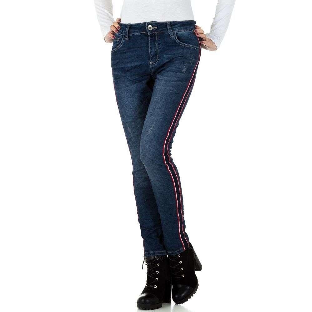 Tmavě modré džíny s lampasy EU shd-ri1259