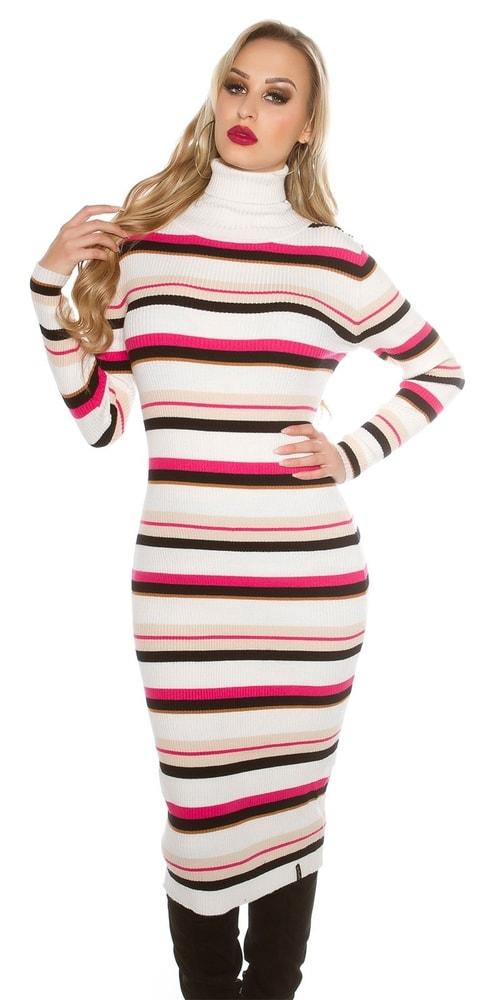 Dámske dlhší úpletové šaty Koucla in-sat1428wh