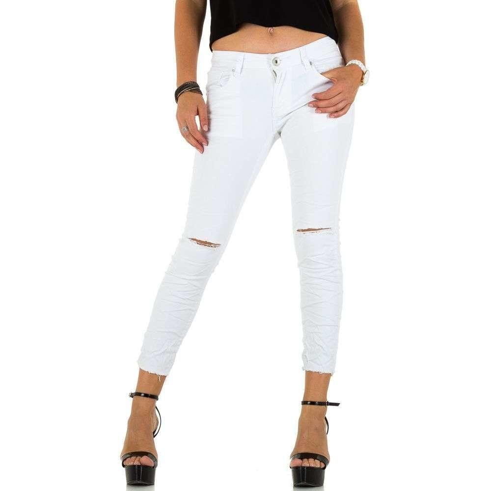 Bílé 7/8 džíny EU shd-ri1085wh