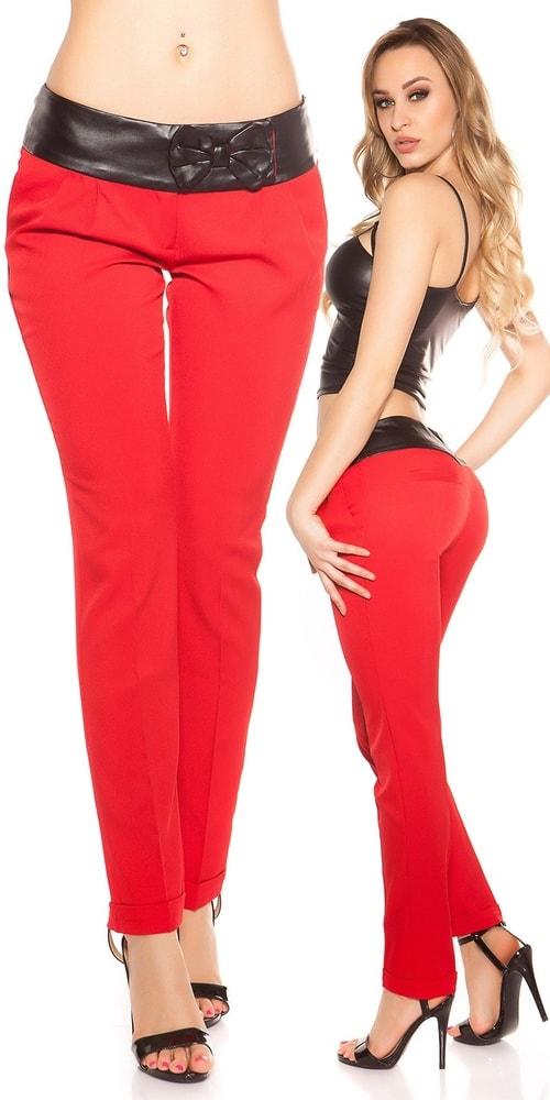 Červené dámske nohavice Koucla in-ka1174re