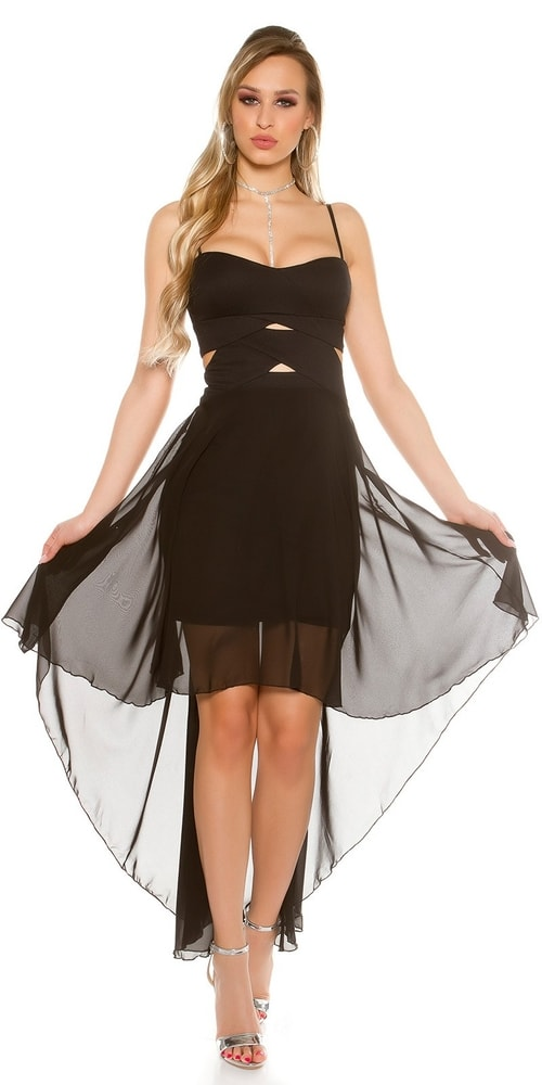 Čierne plesové šaty - M/L Koucla in-sat1562bl