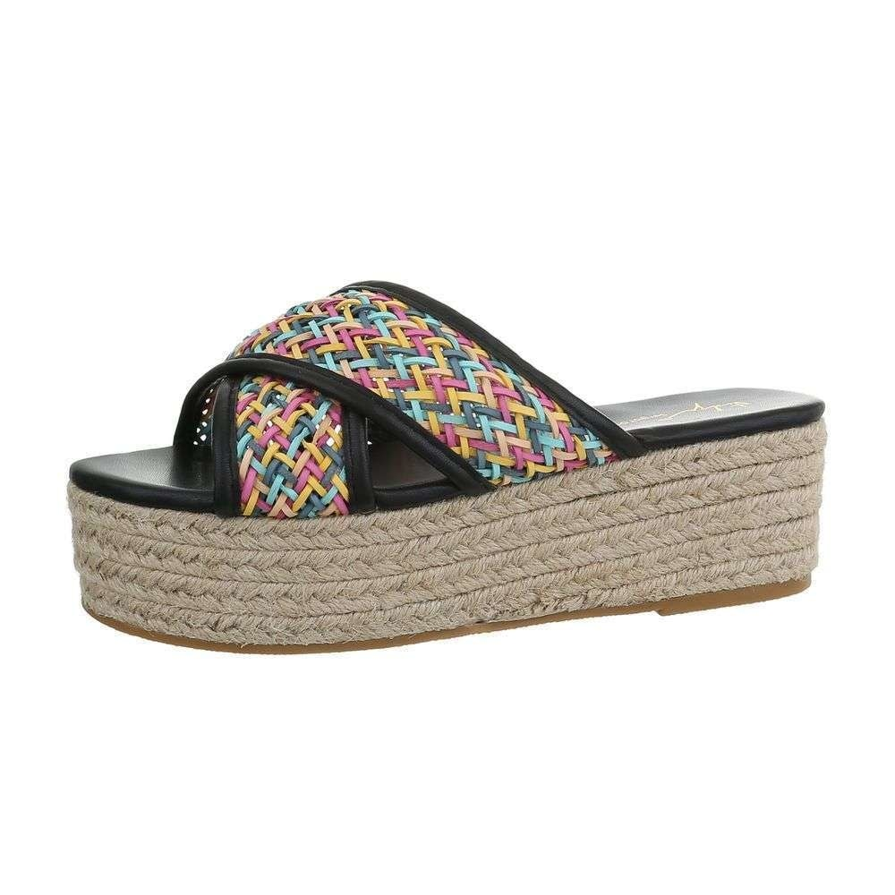 Dámske papuče na platforme - 41 EU shd-opa1100bl