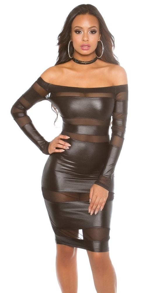 Dámske čierne šaty - S/M Koucla in-sat1404bl