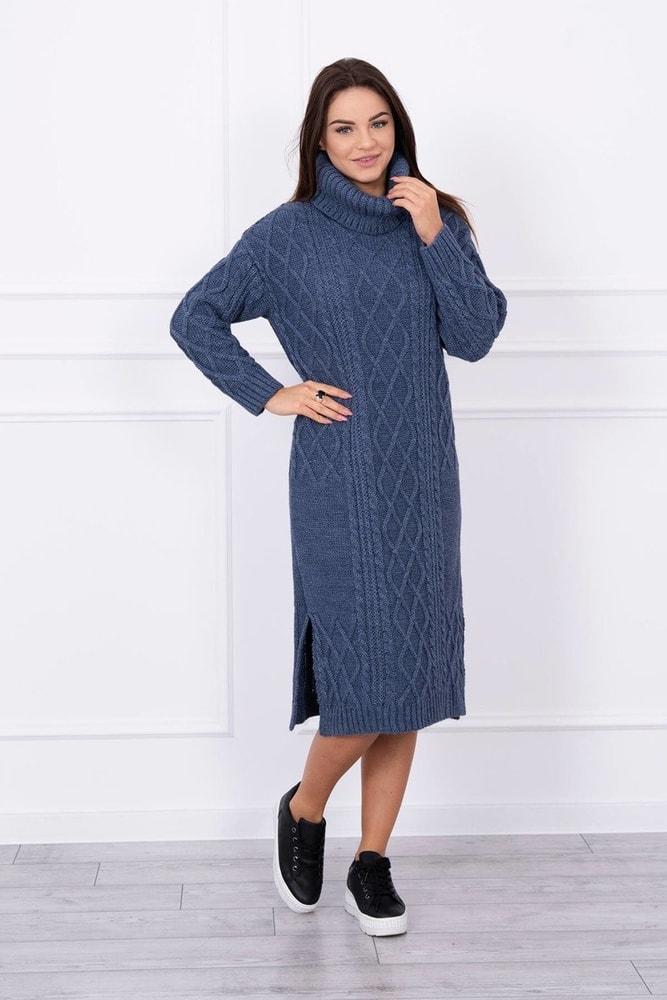 Pletené šaty s rolákom Kesi ks-saS8481mo