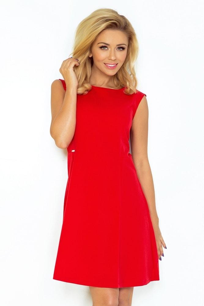 Červené dámske šaty 137-2 - L Numoco nm-sat137re
