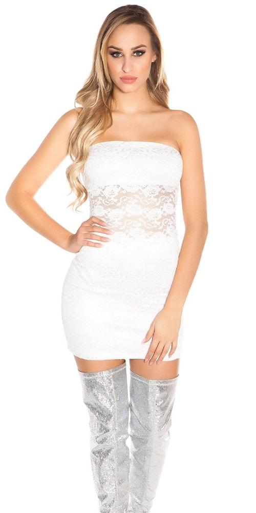 Dámske mini šaty s čipkou - S/M Koucla in-sat1729cr
