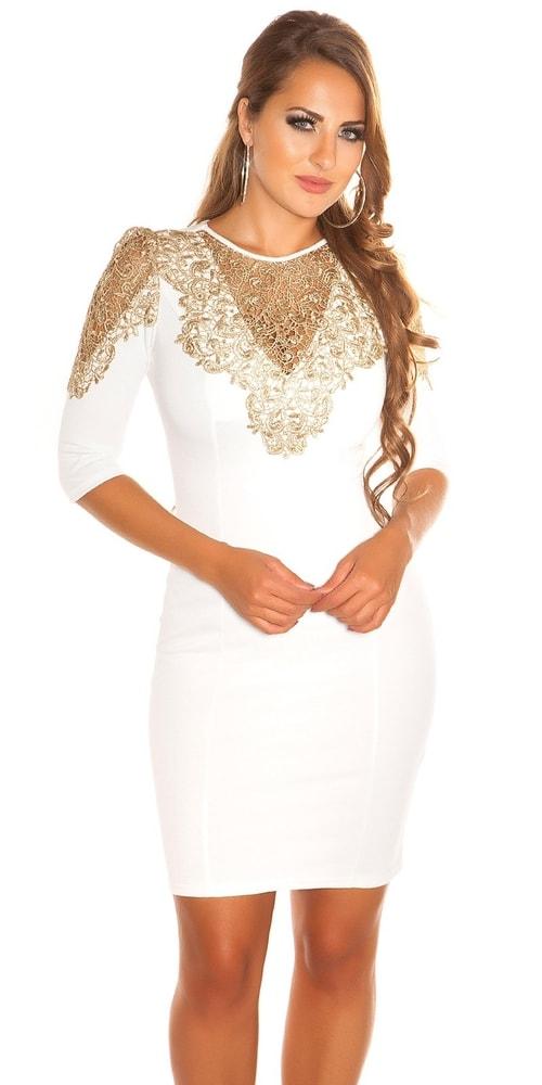 Večerné biele šaty - L Koucla in-sat1219wh