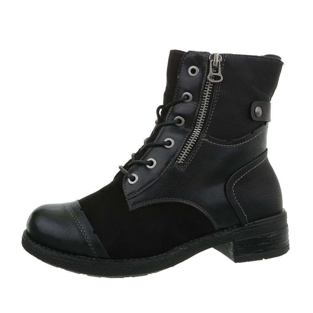 Čierne členkové topánky - 38 EU shd-okk1168bl