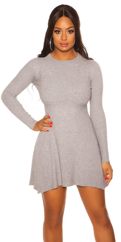 Úpletové mini šaty - S/M Koucla in-sat2077gr