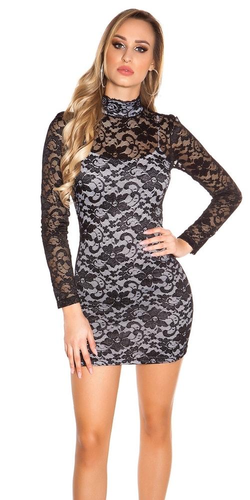 Čipkované dámske mini šaty Koucla in-sat1538wh
