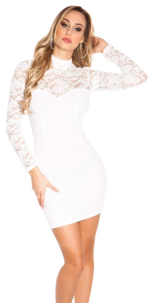 Spoločenské šaty s dlhými rukávmi - S/M Koucla in-sat1138cr