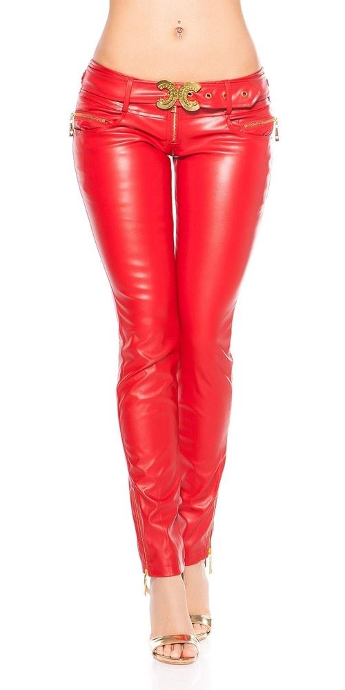 Červené dámske nohavice Koucla in-ka1220re