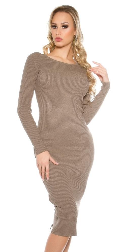 Dlhé dámske úpletové šaty Koucla in-sat1415ca