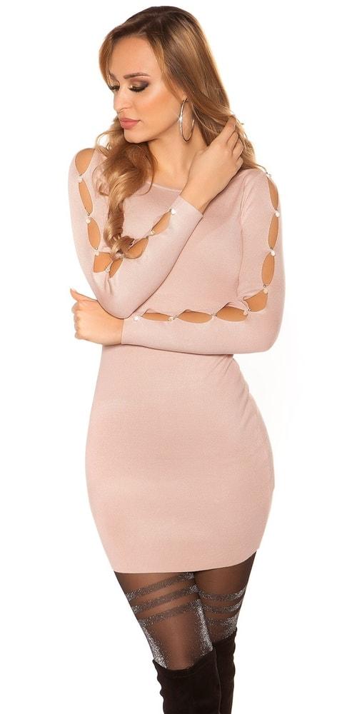 Úpletové elegantní mini šaty Koucla in-sat1973spi