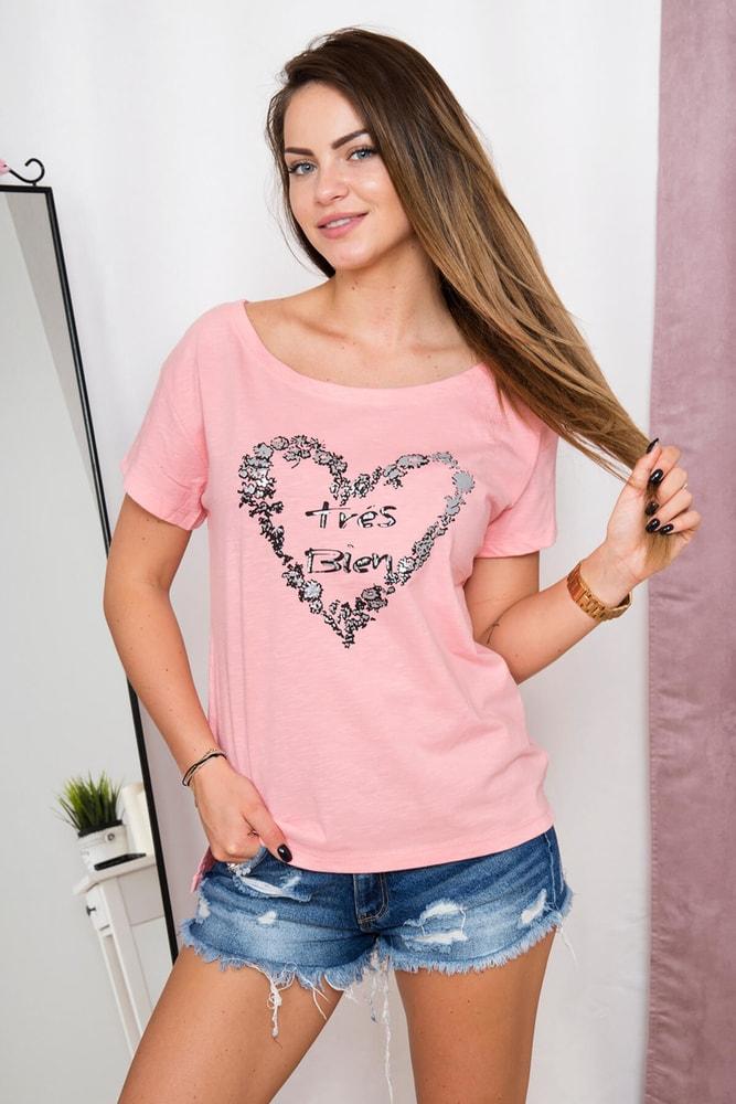 Dámske tričká s potlačou Kesi ks-tr60912spi