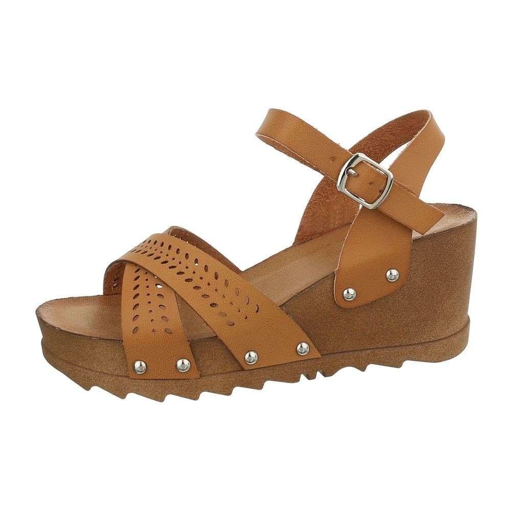 Sandále na kline hnedé - 40 EU shd-osa1181ca