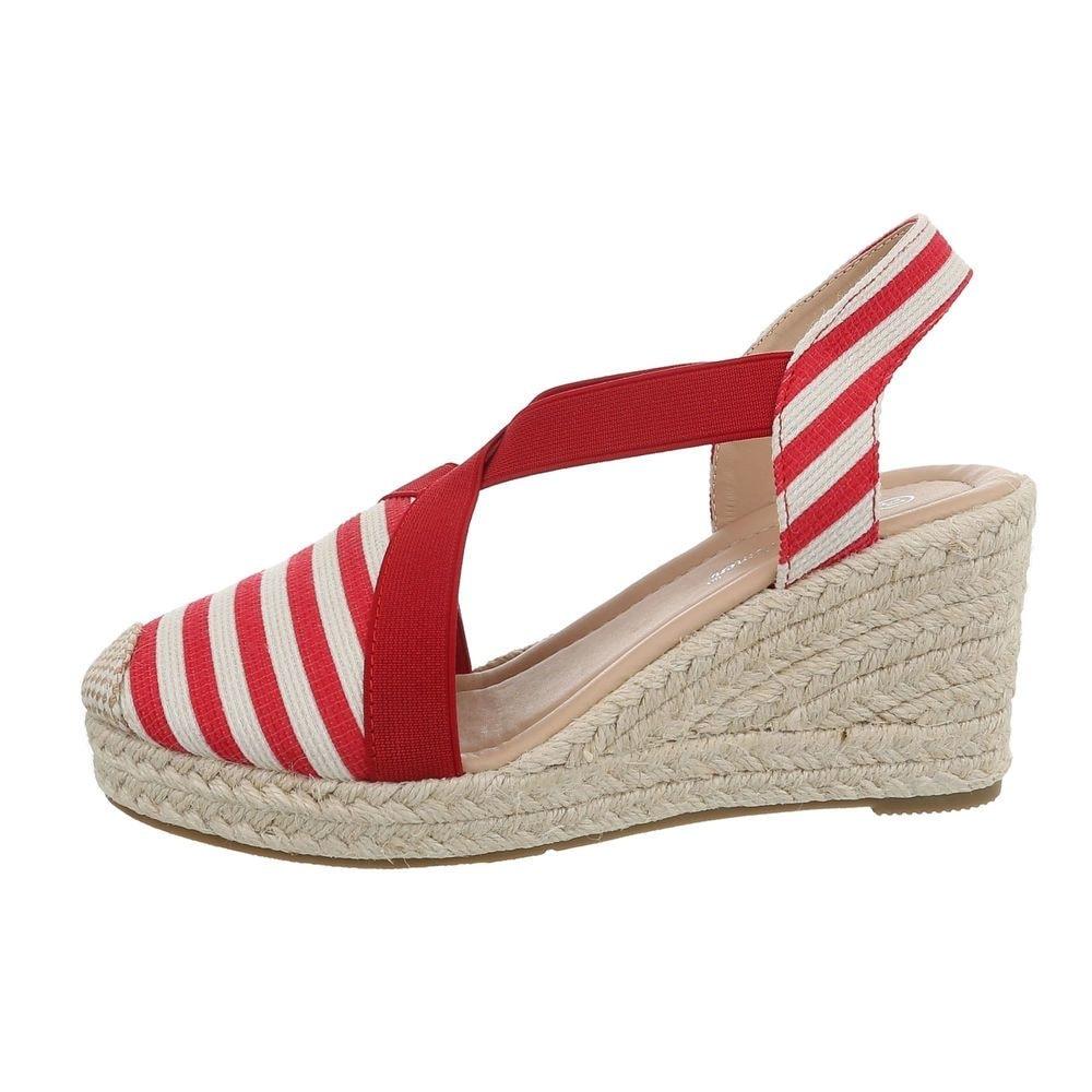 Dámske sandále červené - 38 EU shd-osa1340re