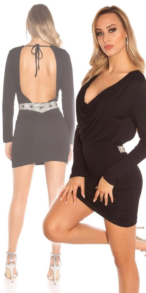 Čierne dámske šaty Koucla in-sat1443bl