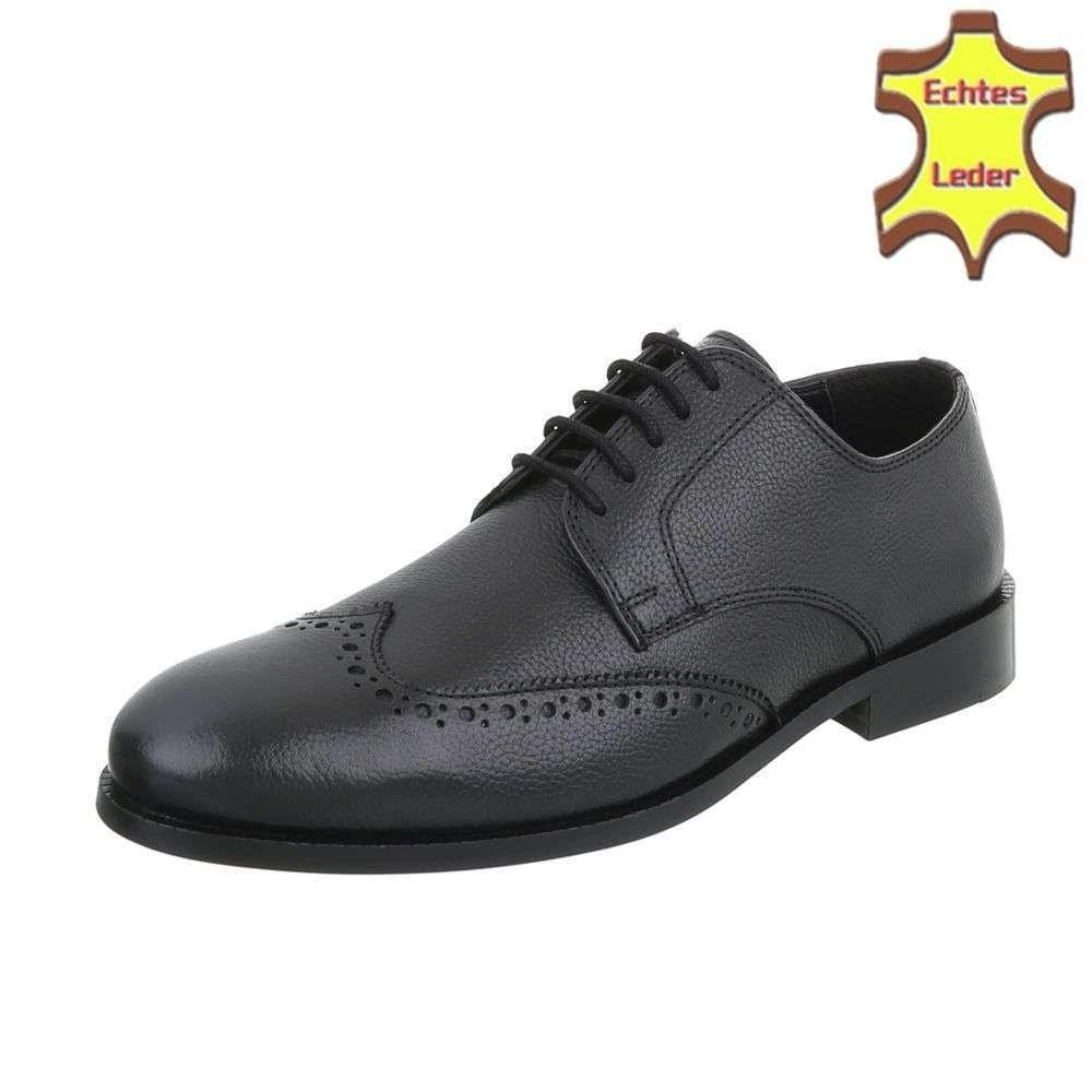 Pánske čierne spoločenské topánky shp-osp1063bl