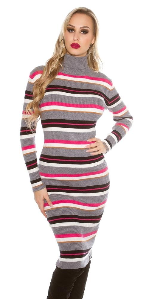 Dlhé pruhované šaty Koucla in-sat1428gr