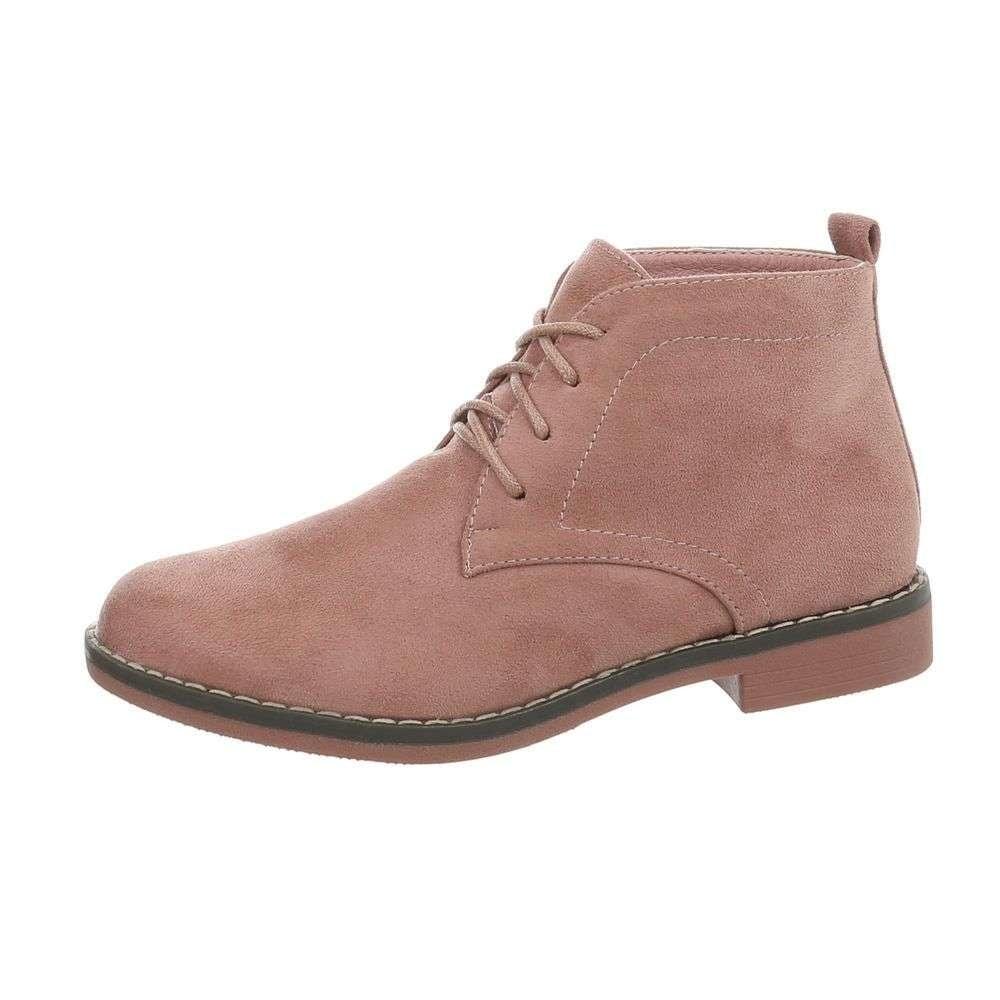 Růžové dámské boty - 36 shd-okk1101pi