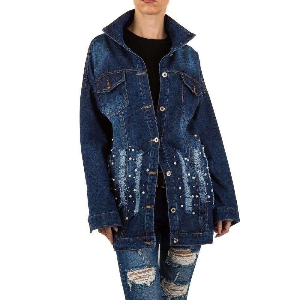 Dlouhá džínová bunda EU shd-bu1046mo